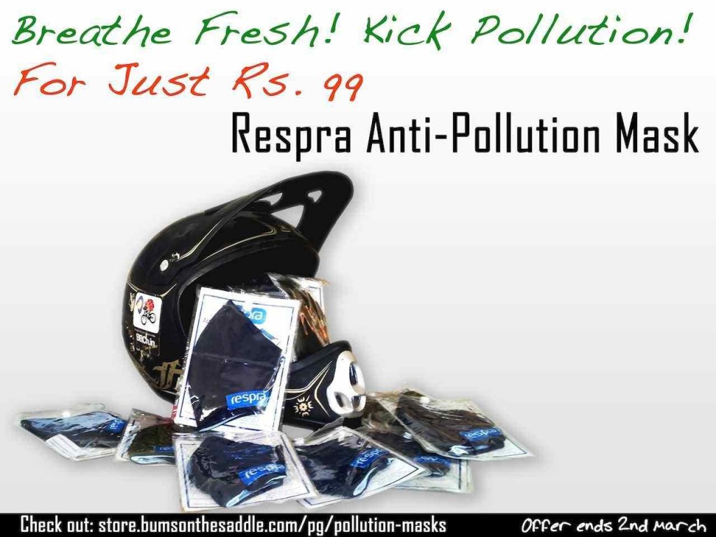 good deal and discount on the Respra pollution mask while bicycling