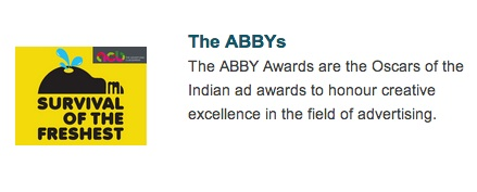 the abbys - Oscars of the Indian ad awards to honour creative excellence in the field of advertising