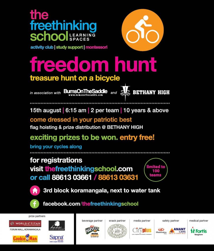 Fun cycling in bangalore - treasure hunt on a bicycle!
