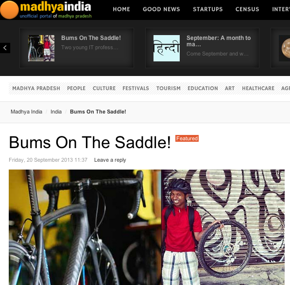 BumsOnTheSaddle featured on madhya India