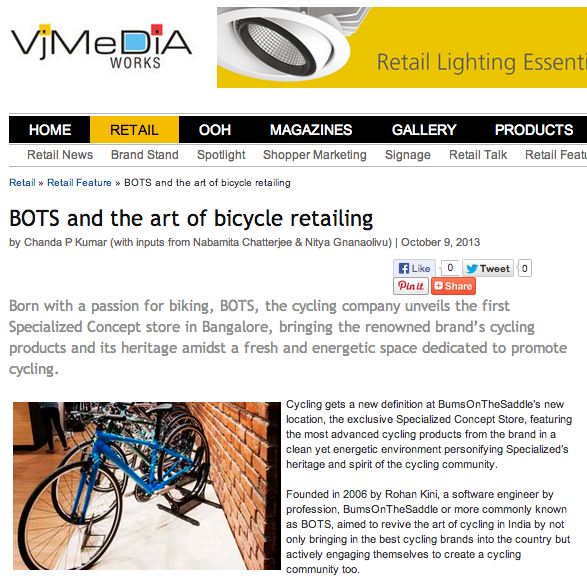 VM & RD - VJ Media - BOTS and the art of bicycle retailing