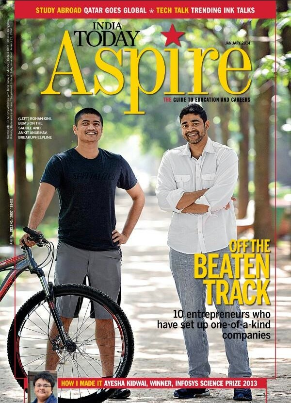 MEDIA020 201401 - India today - cover page - BumsOnTheSaddle, one of a kind companies