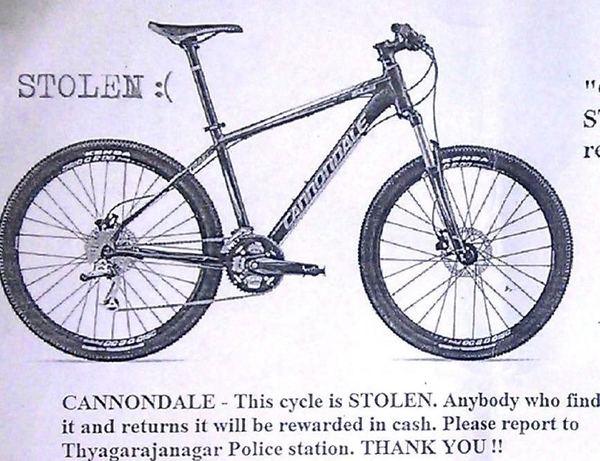 Shamala stolen bike - poster