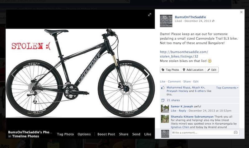 stolen bicycle registry india