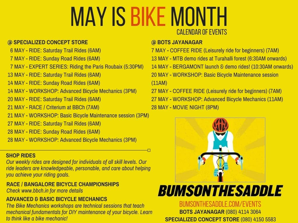 Bicycling events in May in Bangalore