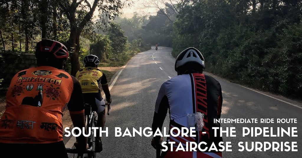 Bumsonthesaddle we love cycling and aim to re define the way south bangalore ride route the pipeline staircase surprise solutioingenieria Choice Image
