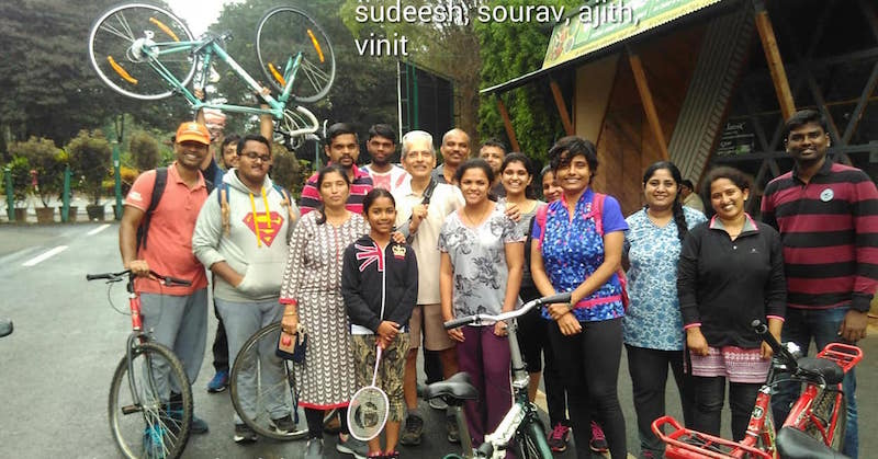 Bangalore Bicycling School - learn how to ride a bicycle