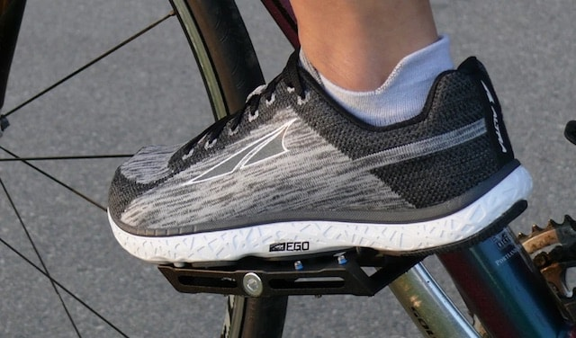 Running shoes on a cycle